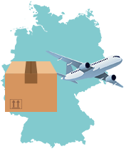 package being shipped to Germany by air